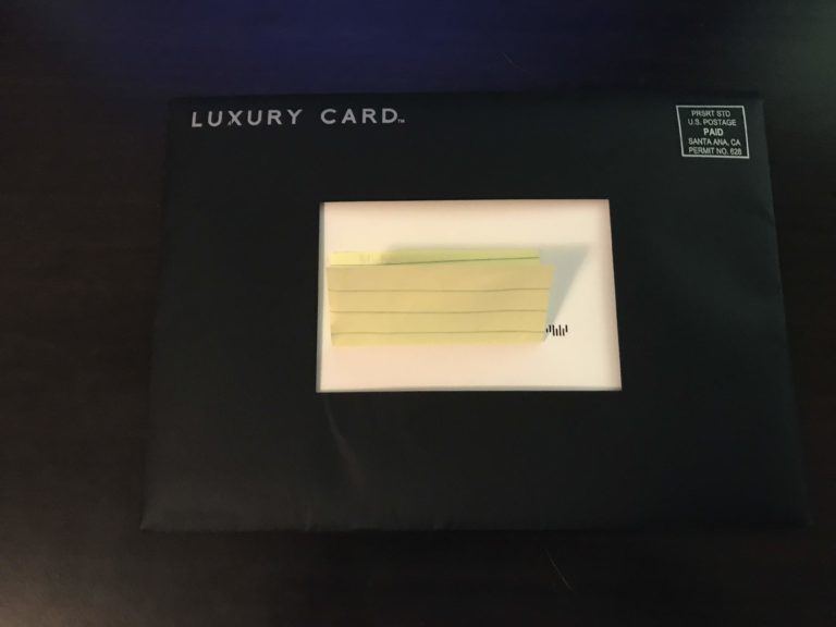 Mastercard Black Card Invite Envelope