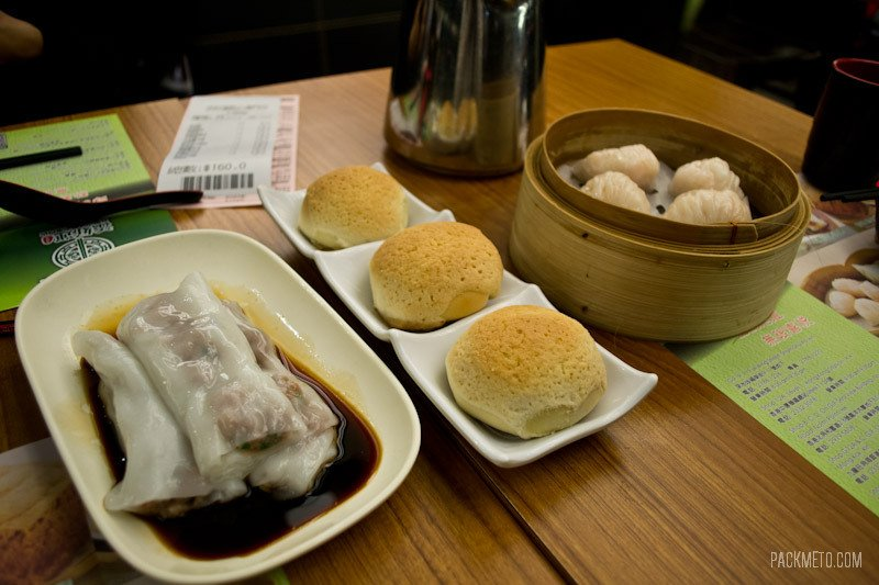 Dim Sum order from Tim Ho Wan in Hong Kong's cheapest Michelin starred restaurant