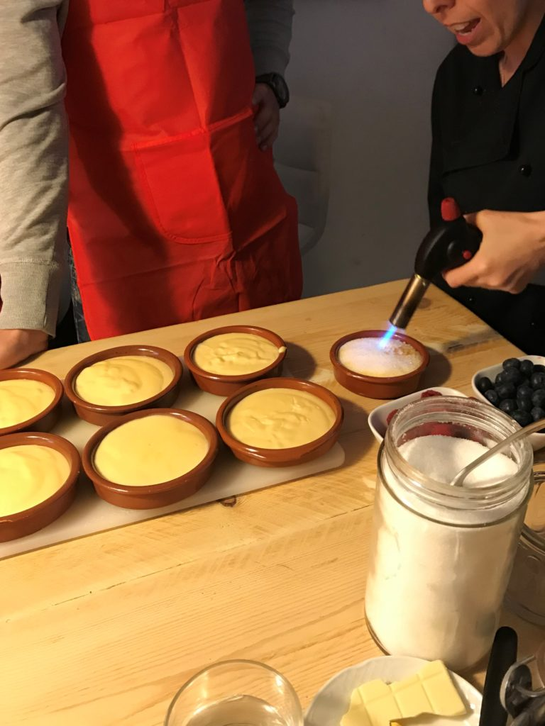 Learning to flambe Catalan cream