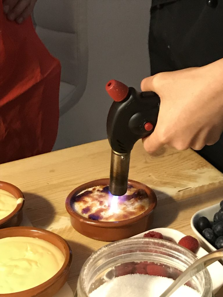 Catalan Crema aka catalan cream being torched