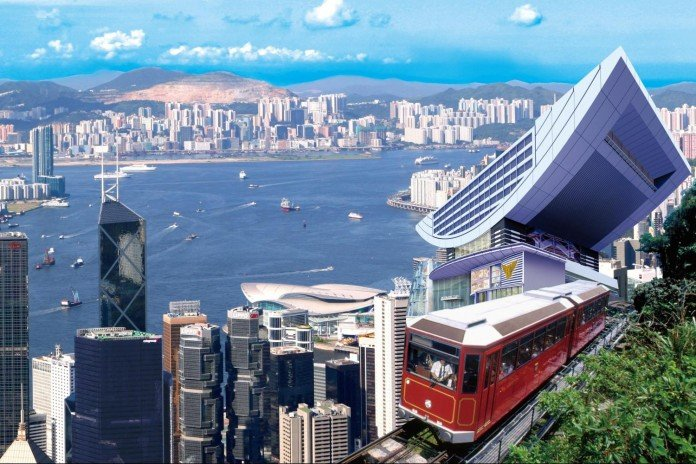 Victoria Peak Tram Hong Kong - best view of the city from The Peak