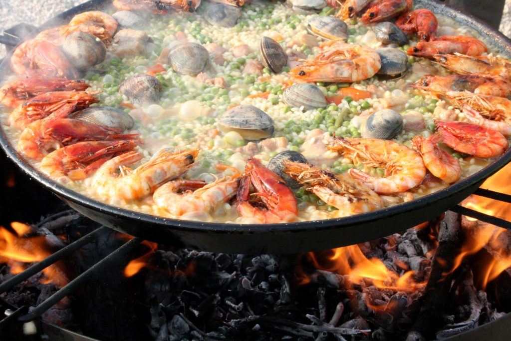 Paella is a traditional dish in Barcelona