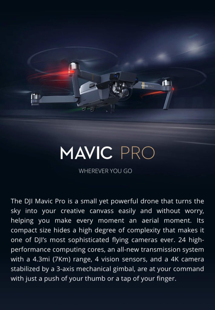 Mavic Pro Drone for travel