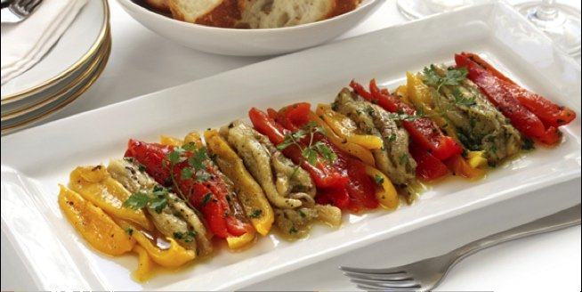 Escalivada roasted peppers and eggplant in Barcelona