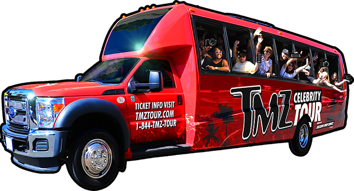 Hollywood celebrity tour bus TMZ