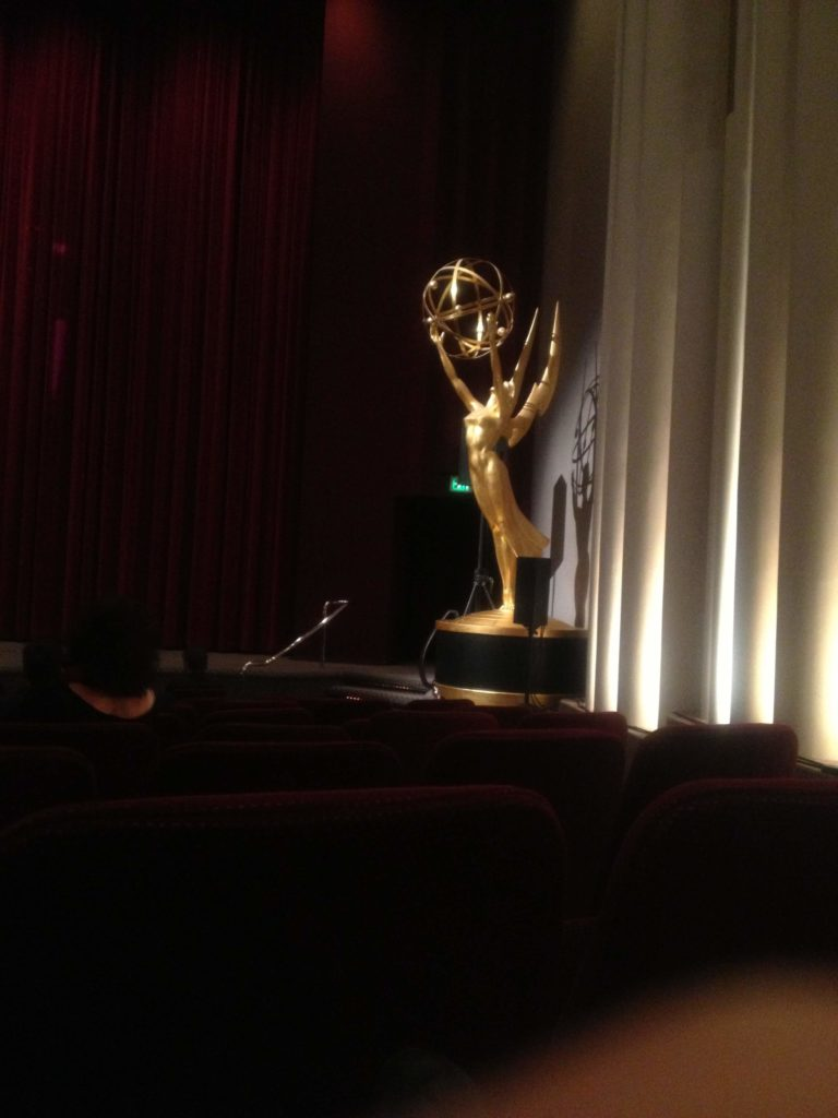 Giant Emmy Statuette from the time I snuck into the Emmys after party