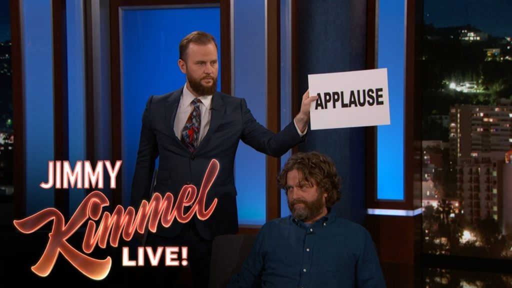 jimmy kimmel live applause sign