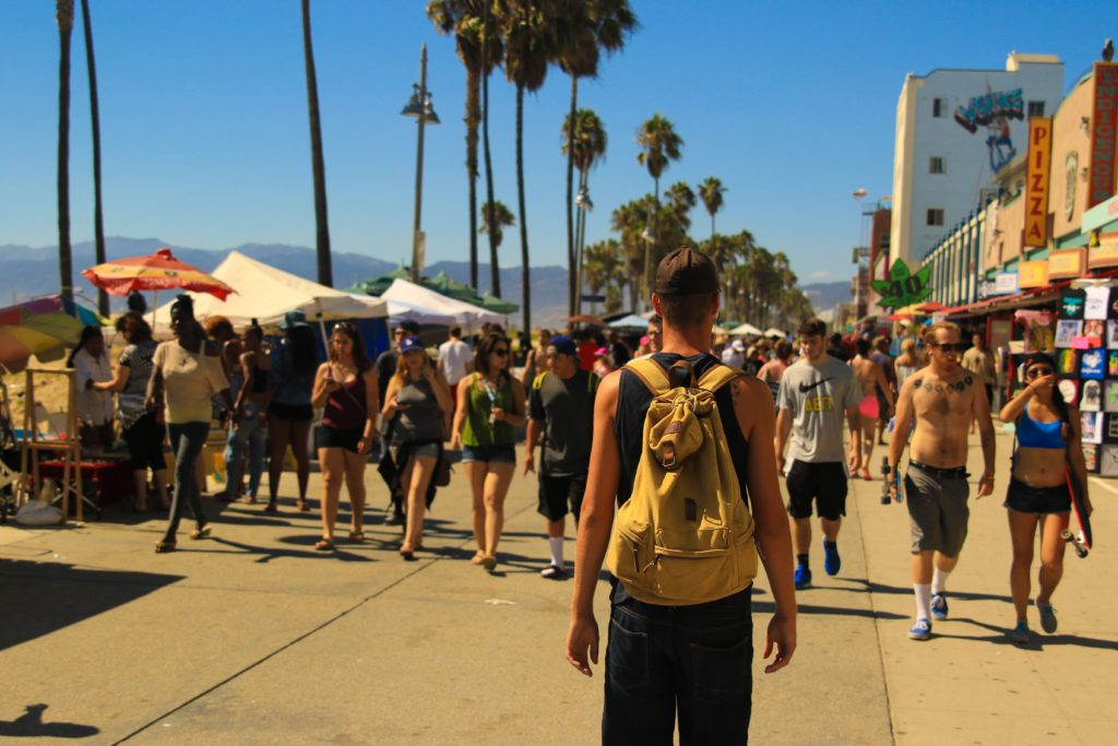 Venice Beach boardwalk in Los Angeles