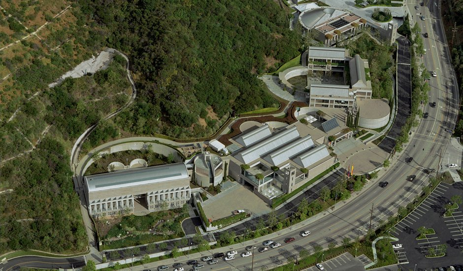 skirball cultural center aerial view