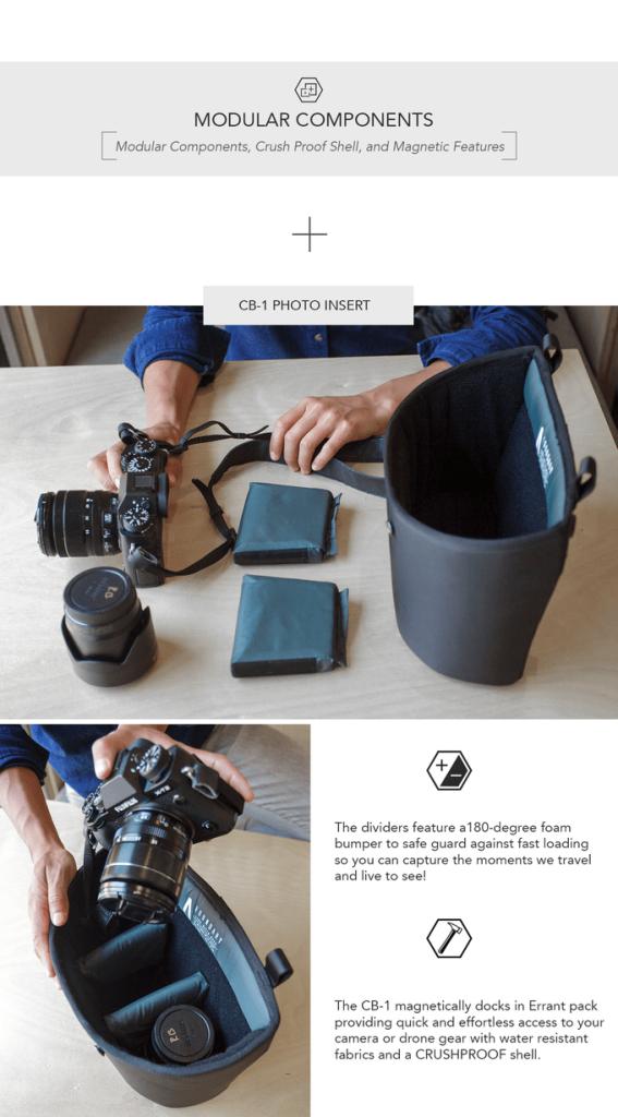 Errant Backpack Daybag Camera Modular Unit