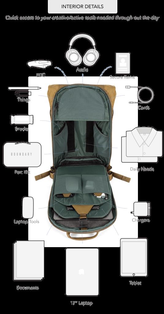 Errant Backpack Daybag Pocket Space2