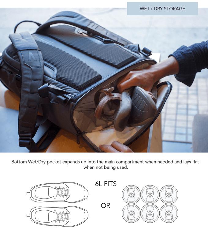 Errant Backpack Daybag Shot Pocket