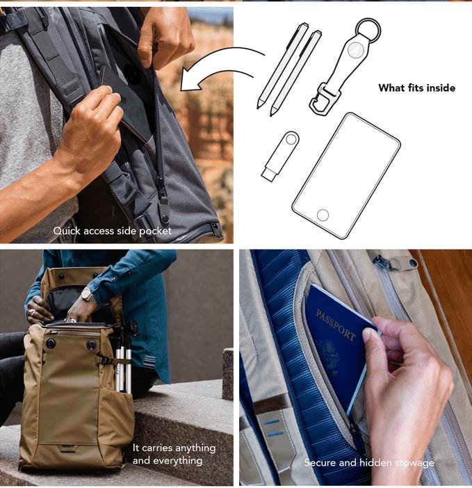 Errant Backpack Daybag Side Pockets