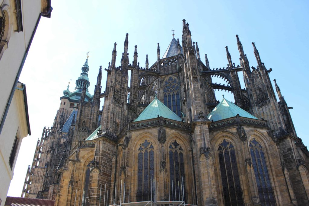 Prague - St Vitus Cathedral from the back