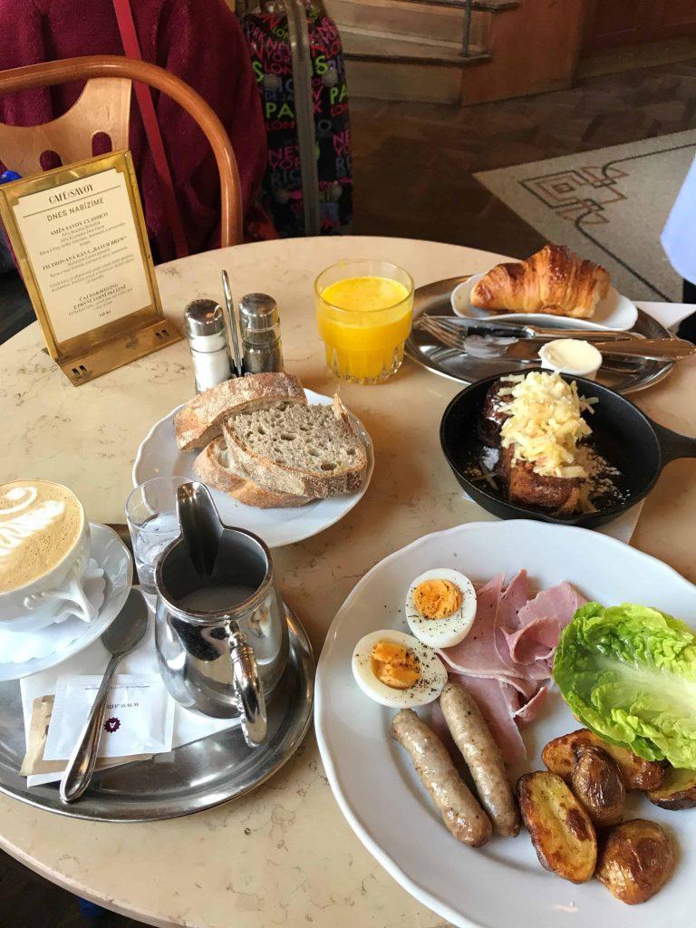 Prague food - best brunch at Cafe Savoy