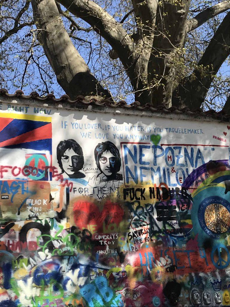 Prague - Lennon Wall Graffiti Wall Art Mural