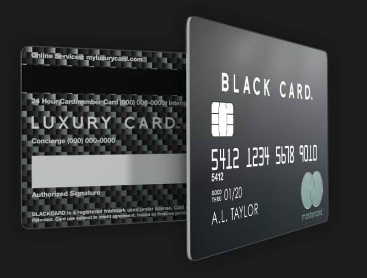 Mastercard Black Card made of metal