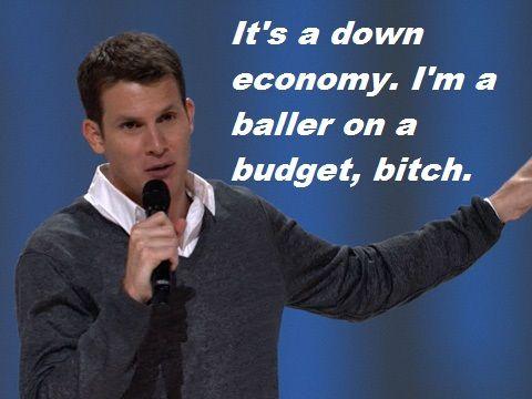 Daniel Tosh baller on a budget meme