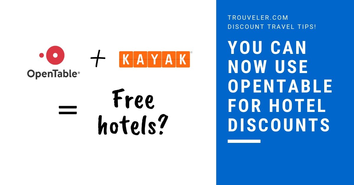 How to get cheap hotel nights using OpenTable Dining Rewards for Kayak discounts